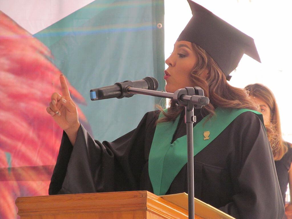 Emotivo discurso de la graduada Elba Liliana Flores Osorio, generación 2018